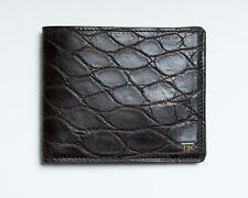 Tom Ford NWT Alligator Leather Dark Brown Bifold Wallet Cardholder