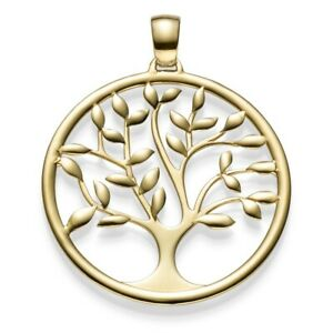 Anhänger Amulett Baum Lebensbaum aus 585 Gold Gelbgold Goldanhänger 40x33mm