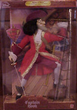 NEW DISNEY MASTERS OF MALICE CAPTAIN HOOK POSABLE BARBIE KEN COLLECTOR DOLL