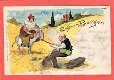 More details for gruss aus den bergen comic golf  by a f  switzerland pc used 1901 ref u859
