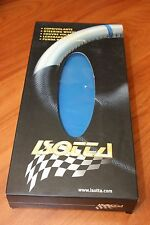 Couvre Volant en Cuir BLEU & NOIR pour PEUGEOT 206 . ISOTTA Made in ITALY .NEUF