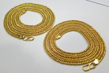 Link Chain Necklace From Rajasthan India Set Of Two Solid 22K Gold Handmade