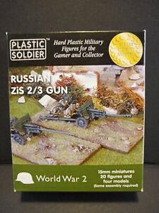 Plastic Soldier Soviet WWII Zis 2/3 Gun [Suitable for Flames of War][4 Models]