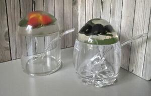 Vintage Retro Perspex Acrylic Lucite Jam or Preserve Pot Strawberry Blackberry