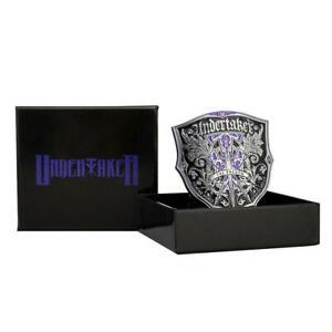 Official WWE Authentic Undertaker Legacy Championship Belt Buckle Black/Purple