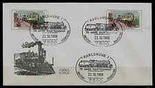 "Berlin 2x MiNr 822 ""150 Jahre Eisenbahn Berlin-Potsdam"" -75 Jahre HBF Karlsruhe-"