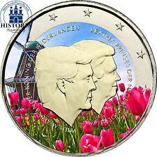 Niederlande 2 Euro 2014 bfr König Willem Alexander & Prinzessin Beatrix in Farbe