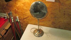 Antique Nickel Finish Standing Shaving Mirror