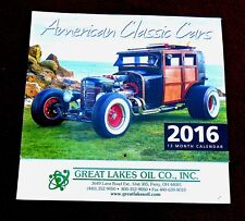 VERY COOL 2016 AMERICAN CLASSIC CARS CALENDARS FROM GREAT LAKES OIL CO.