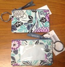 NWT Vera Bradley Zip ID Case with Key Ring in Penelope's Garden Brand New w/ Tag