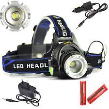 5000Lm XM-L T6 LED 3-Modes 18650 Zoom Headlamp Headlight Head-Switch