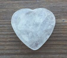 NATURAL CLEAR QUARTZ GEMSTONE PUFFY HEART 30-35mm