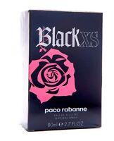 Paco Rabanne Black XS For HER EDT Spray 80ml Women New 100%Original & Sealed
