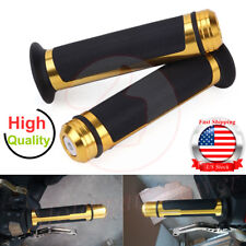 "1 Pair 7/8"" 22mm Motorcycle Handle Bar Aluminum Rubber Gel Hand Grips Universal"