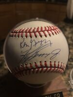 Ken Griffey & Ken Griffey Jr Signed Baseball COA