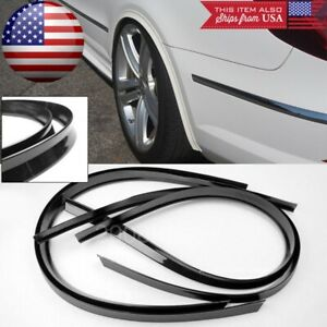 """2 Pairs 47"""" Black Flexy Arch Wide Body Fender Flares Extension Lip Guard For BMW"""
