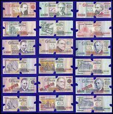 Uruguay 1,000 to 500,000  Nuevos Pesos X 9 Pieces Set, 1989-1992, P-67T73, UNC