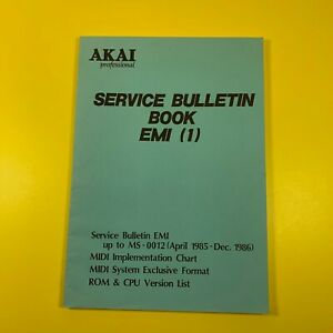 NO WAY! AKAI Service Bulletin Book EMI (1) AX60 S612 MD280 S900 MG1212 AX80 VX90