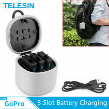 TELESIN ALLIN BOX 3 Slot Battery Charging SD Card Storage for Gopro 7/6/5 US