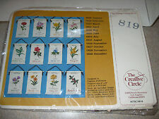 The Creative Circle 1979 February Violets Birthday Embroidery Kit Hanging Banner