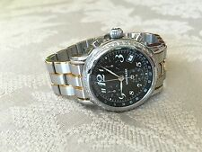 Mont Blanc Montblanc Meisterstuck SS Carbon Dial 7038 Diamond Chronograph Watch