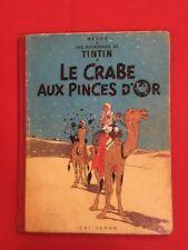 TINTIN CRABE PINCES D'OR 9B11 1954 DOS ROUGE CASTERMAN HERGÉ BD Ref1
