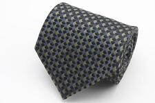 ARMANI COLLEZIONI Tie. Black Blue & Brown Whimsical Geometric. Made in Italy.