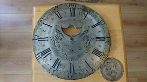 Antique longcase grandfather clock dial