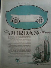 1920 Jordan Silhouette Convertible Car City of Driving Progress Cleveland OH Ad