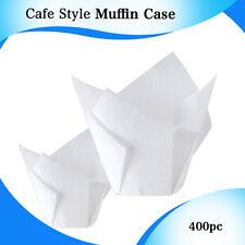 CAFE STYLE WHITE TULIP MUFFIN CASES 400/PC - P30 MINI 110X110 CM CUPCAKE BOXES