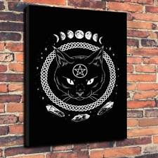 """Witches Familiar Printed Canvas Picture  A1.30""""x20""""~Deep 30mm Frame Gothic Wicca"""