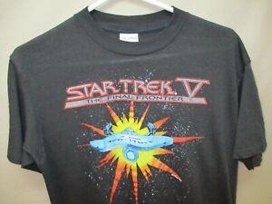 Men's Vintage (c)1989 Star Trek The Final Frontier USS Enterprise T-shirt XL