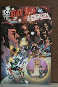 STAR TREK LEGION OF SUPER-HEROS #6  COVER B 1ST PRINT  IDW DC  (2012)