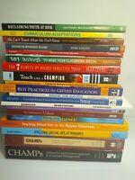 Lot of 20 Teachers Books Teaching Educational See Discription For List Good.