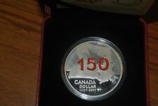 OUR HOME AND NATIVE LAND 2017 ENAMEL Proof Silver Dollar Coin - RCM 150th Canada