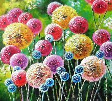 Flower Diamond Painting Diy Colorful Dandelion D