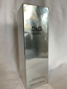 D&G Dolce & Gabbana Feminine Scented Body Milk 200ml Discontinued Very Rare BNIB