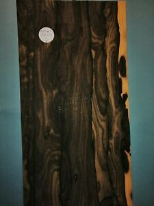 CONSECUTIVE SHEETS OF MACASSAR ROYAL EBONY. VENEER 110 X 18 CM KES#1 MARQUETRY
