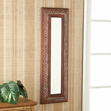 JWM43536  AGED RED WALL MOUNT DECORATIVE MIRROR