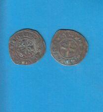 PHILIPPE IV Le Bel (1285-1314) Double Tournois billon Lot M PORT GRATUIT FRANCE