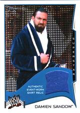WWE Damien Sandow 2014 Topps Event Used Shirt Relic Card Blue DWC