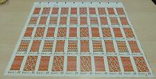 #2235-38 Navajo Art full sheet of 50 MNH perf. shift  toning little soft wrinkle