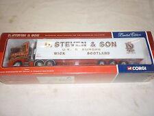 Corgi, CC 76603, Scania refrigerated box trailer D. Steven & son of Wick. boxed