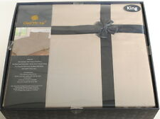 King 800TC Light Brown Bedding Set Sheets 4PC Pima Cotton Dell'Arte Luxury H3D