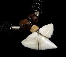 Genuine Shark Tooth Surfer Beads Beach necklace for Men Women Boys Girls  ;AA237