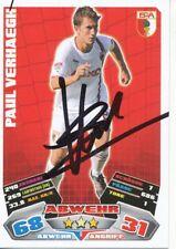 Paul Verhaegh  FC Augsburg  Match Attax Card 2012/13 signiert 401374