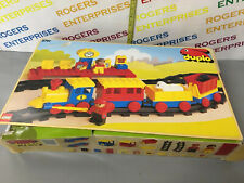 Vintage Duplo 2701 Express Train Set, Box Poor Nr Complete 1 Track Piece Missing