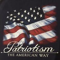 American Patriot Star Spangled Banner US Flag Motif Medium Authentic Classic Tee
