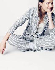 NWT J.Crew Petite Dreamy Cotton Pajama Set in Stripe PS Sleep Top & Pants Set