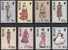 Belize (1774 - 1986 costumes lot de 8 non montés mint